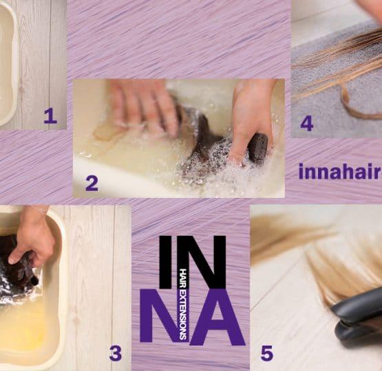 Как да се грижим правилно за екстеншъните от естествена коса
